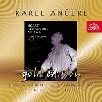 Přední strana obalu CD Ančerl Gold Edition 38. Mozart: Koncerty pro klavír K. 488, K. 271, lesní roh K. 447